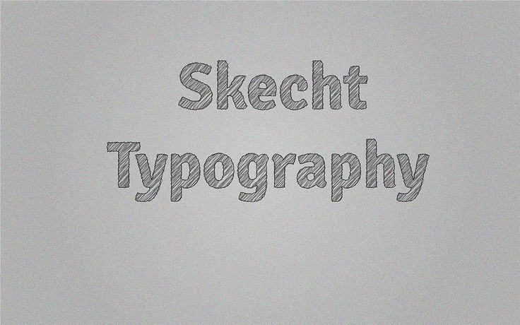 Create Sketch effect to any font