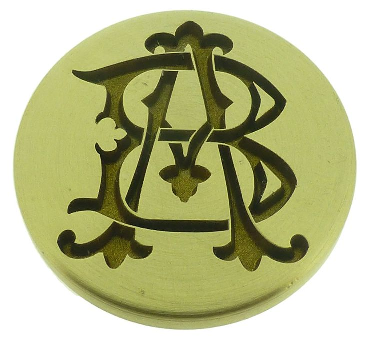 "Custom Wax N' Seals - AB BA VICTORIAN MONOGRAMS Wax Seal Stamp from 25mm , <span class=""ProductDetailsPriceIncTax"">£40.80 (inc VAT 20% (UK"