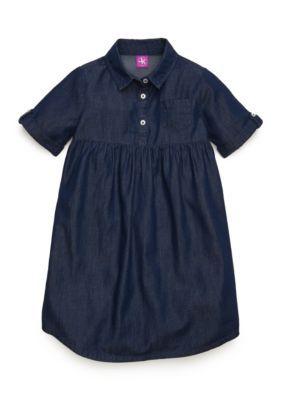 J. Khaki Girls' Chambray Shirt Dress Toddler Girls - Chambray - 4T
