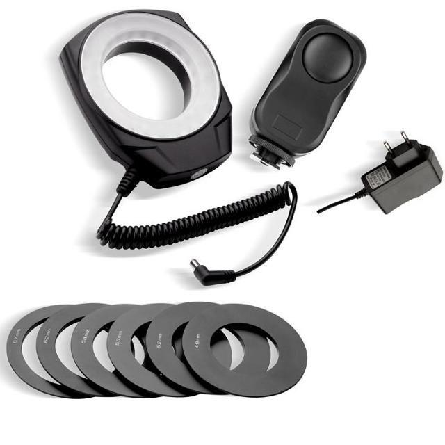 Illuminatore MACRO 48 LED per Canon, Nikon, Pentax, Olympus, ecc
