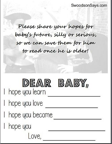 First Birthday Party Baby Mad Lib with Free Printable File - Swoodson Says