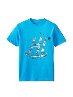 61% OFF O'Neill Boy's State Of Aloha Tee (Neon Blue)