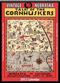 2012 Vintage Nebraska Cornhuskers Football Calendar
