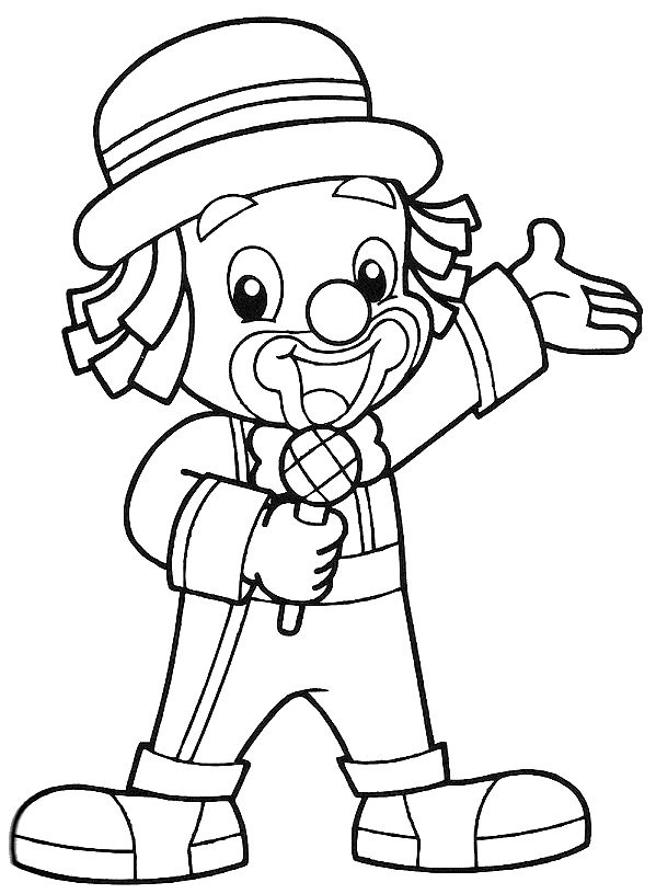 circus clowns coloring pages - photo#37