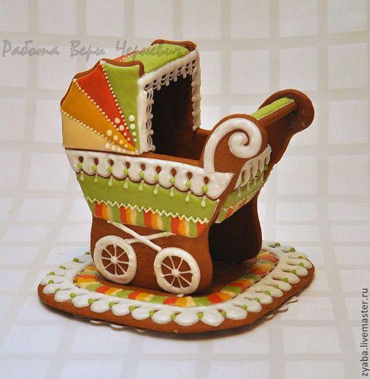 Кулинарные сувениры ручной работы. Ярмарка Мастеров - ручная работа. Купить Пряничная коляска 3D - оригинальный подарок на рождение, крестины. Handmade.