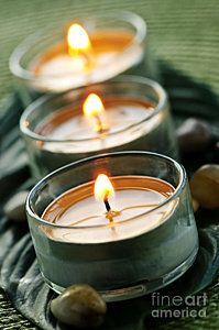 Photograph - Candles On Green by Elena Elisseeva