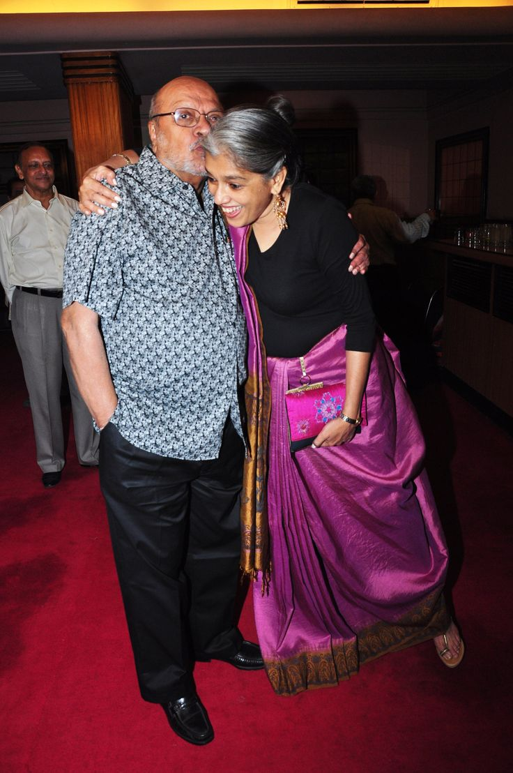Shyam Benegal and Ratna Pathak Shah share a moment  at the Shyam Benegal Retrospective at Osianama at Liberty