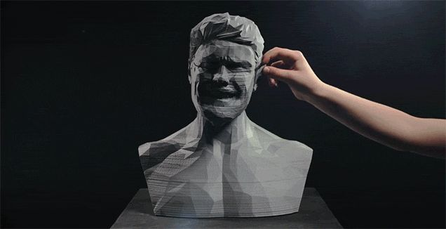 Trippy Video Uses 3D Printing and Stop-Motion Animation to Make a Statue Sing #news #trends