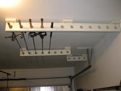 Fishing Rod Hooks For Garage Lure Rod Storage Ideas For