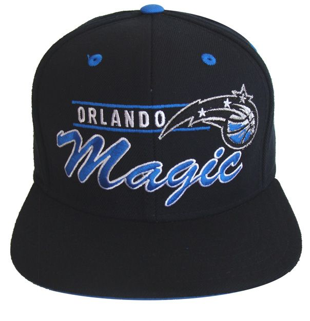 Orlando Magic hats    Orlando Magic Retro Reebok Line Hat Cap Snapback All Black