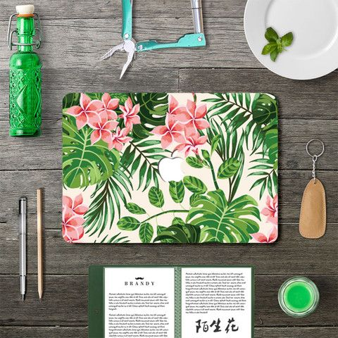 Macbook Decal - Floral Leaf (Available only after April 26th)