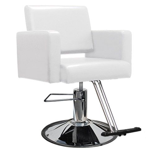 Havana Hair Salon Styling Chair in White  main product image