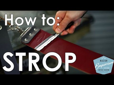 Beginner How To: Straight Razor Stropping FAQ's - YouTube