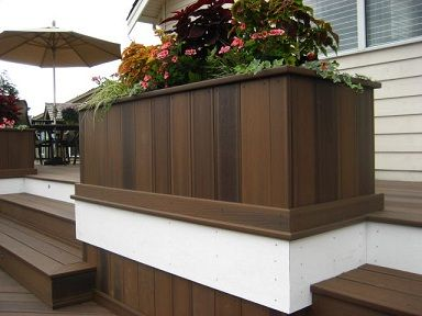 Beautiful Wood Composite Planter Need This On The Patio