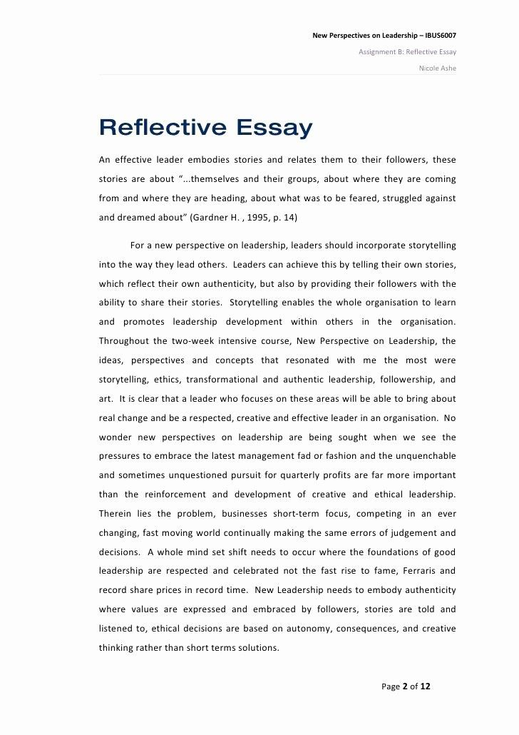 Reflective Essay Conclusion Example Elegant Reflection Paper Conclusion Reflective Essay Examples Self Reflection Essay Essay Writing Examples