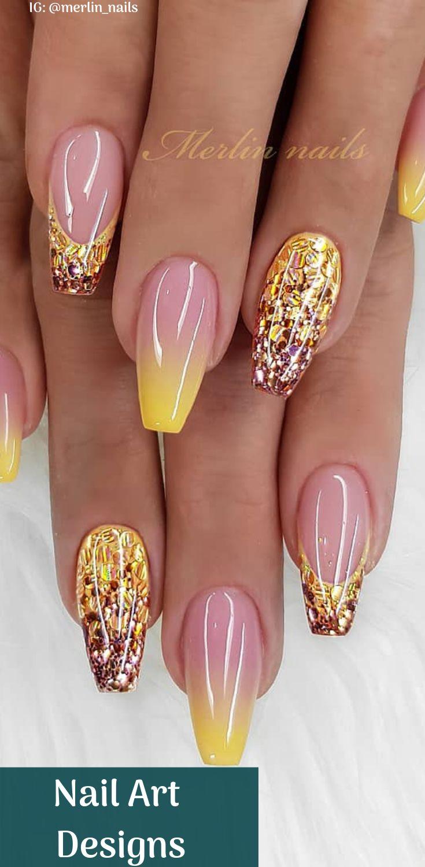 15 Nail Art Designs 2019 Hübsche Nägel für Ihre Nägel mit speziell in Schwarz und Rosa kombinierten Nägeln mit einzigartigem Stil Bildnachweis @merlin_nails