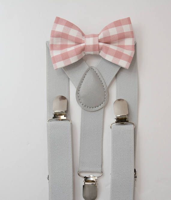 d08c7826e4b1 Suspenders SET 8mon - Adult Kids Mens Baby Boys Light PASTEL Gray Y-Back  Suspenders & Plaid Pink bow tie Wedding Groom Page Boy SET | Wedding / Page  Boy ...