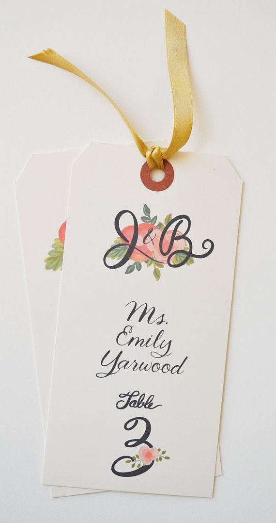 Escort Cards/Names providedFlorals and by firstsnowfall on Etsy, $165.00