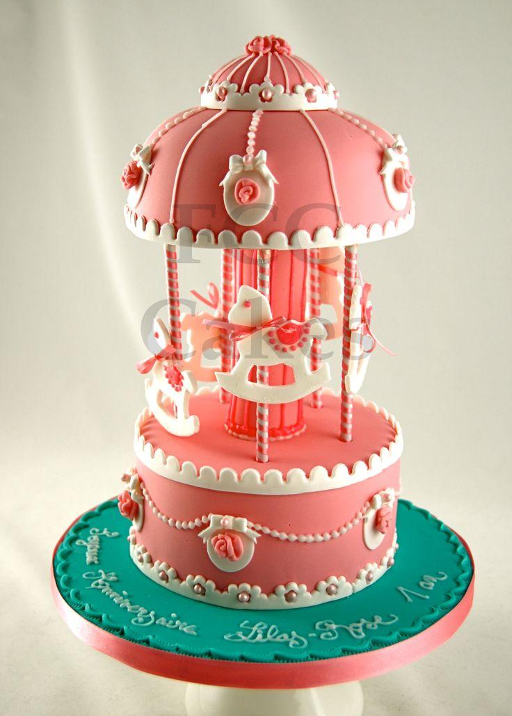 Cakes For Girls Carrousel - Gateau D'anniversaire Pour Enfants Filles - Verjaardagstaart