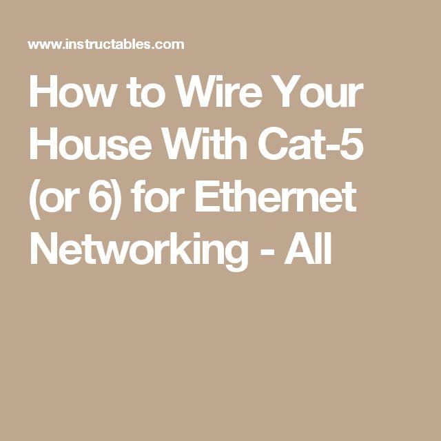 Ethernet house diy