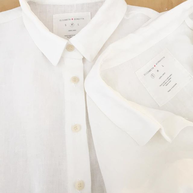 Our last two #elizabethandbirgitta linen shirts. Can't go wrong with these, summer or winter. In the shop! @birgittahelmersson