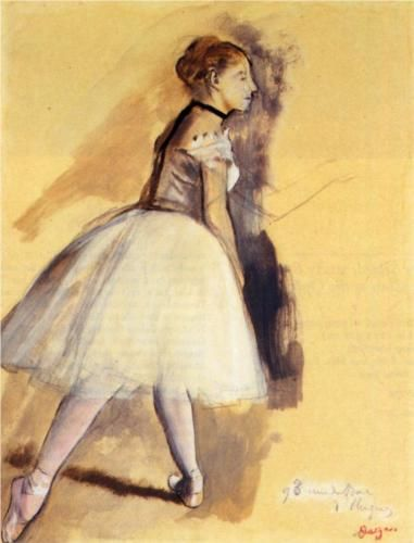Dancer Standing (study) - Edgar Degas, 1872 ♥ Wonderful! www.thewonderfulworldofdance.com #ballet #dance