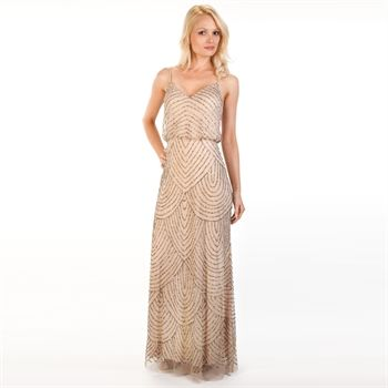 Adrianna papell beaded blouson gown at von maur my for Von maur wedding dresses