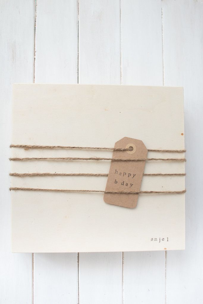 Diy Wooden Gift Box made with twine and stamps. The perfect handmade gift for her. I included a starbucks giftcard, fresh sugar in honey, and treats.