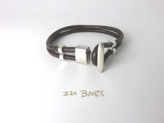 Bracelet Homme Cuir Bracelet Cuir Marron Bracelet par ZenBoutik