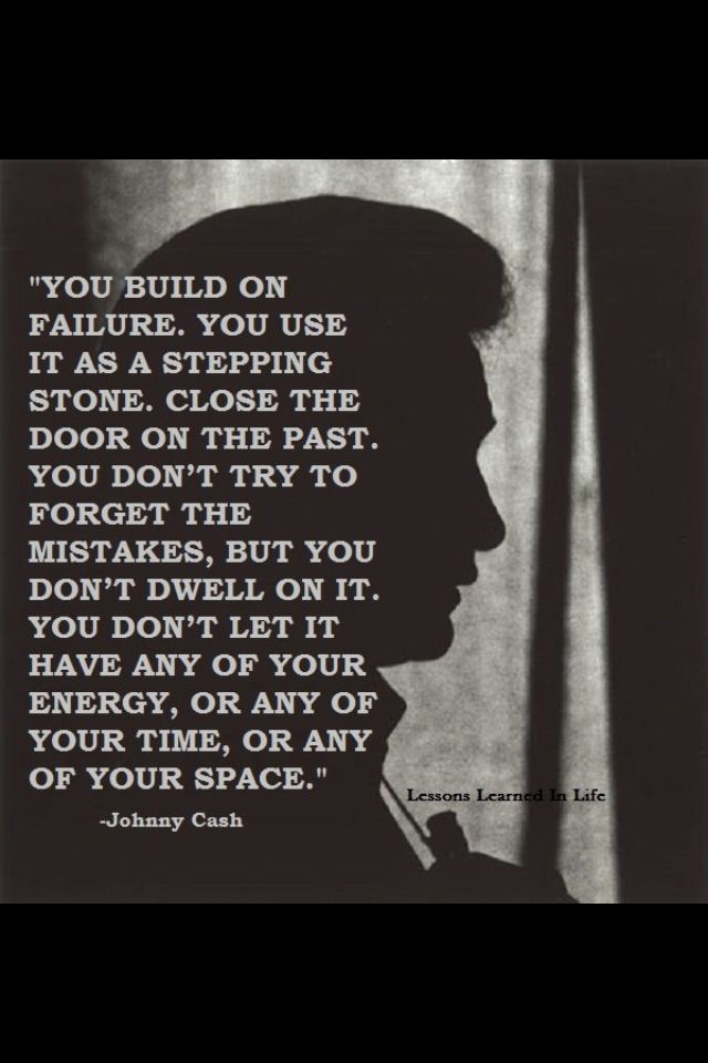 Johnny Cash! Guess you have a lot of time for deep thinking when in jail. Some people keep themselves locked up with NO bars.