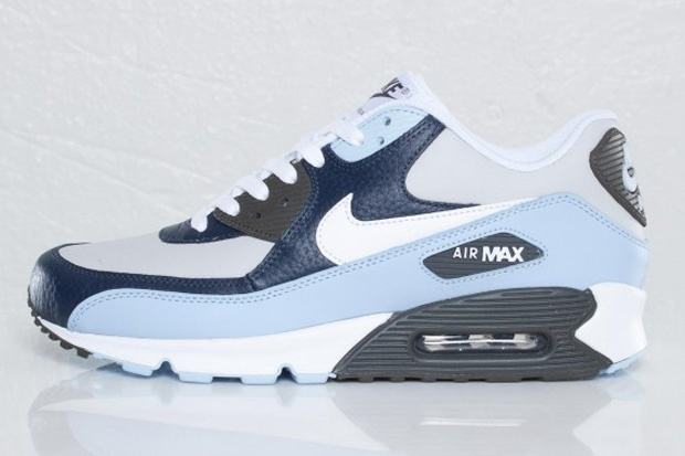 Nike Air Max 90 'Obsidian/White/Light Blue' - You're My Boy Blue: Max 90S, Kicksonfire With, 90 Obsidian White Light, Nikes, Obsidian White Light Blue, Air Max 90, Nike Air Max