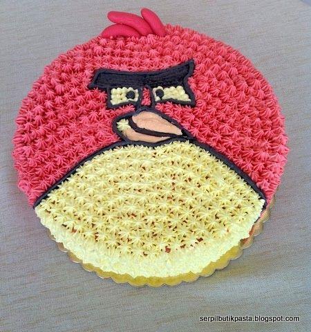 Butik Pasta Kurabiye Makaron: Angry Birds Doğum Günü Pastası