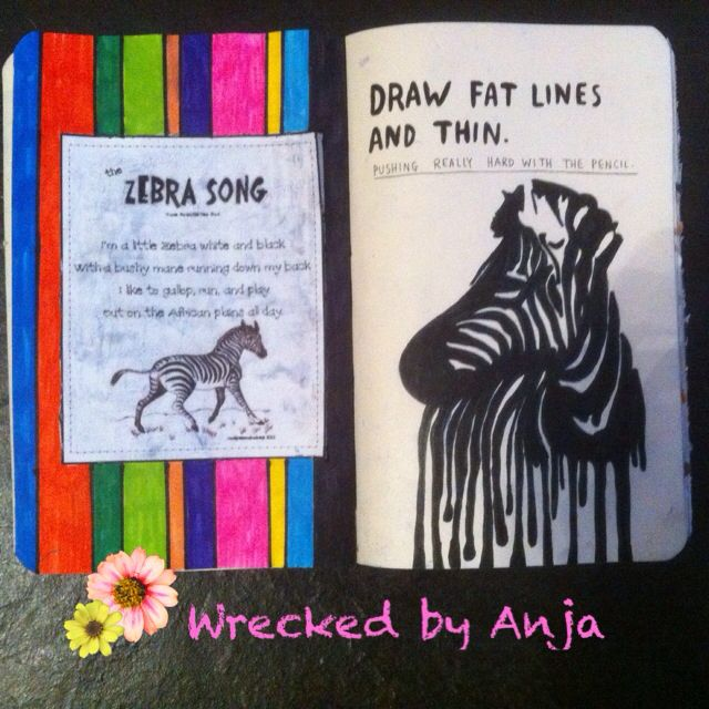 Draw fat lines and thin - Wrecked by Anja