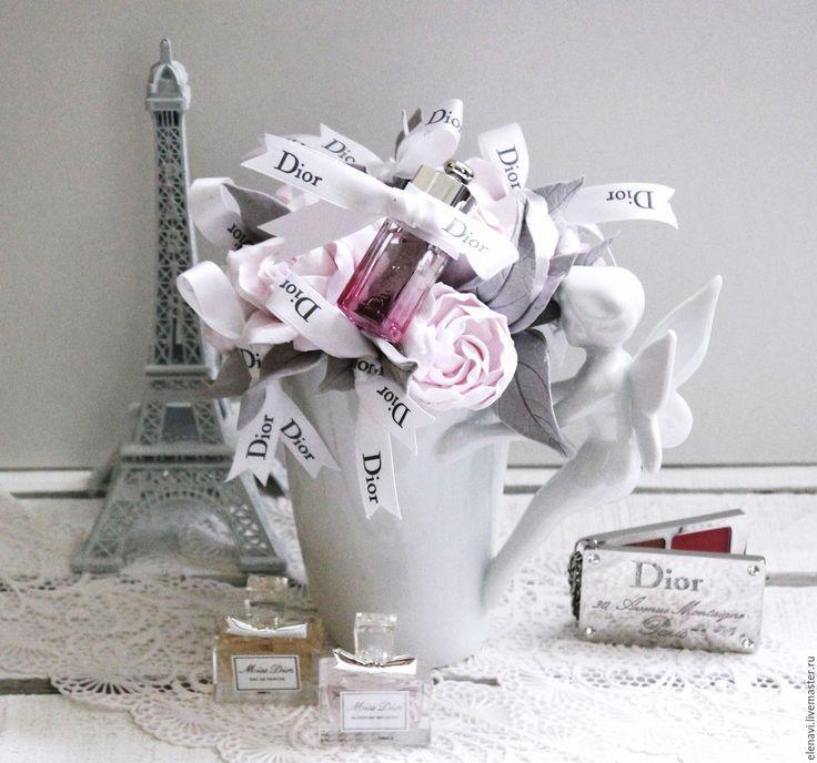 Купить Путешествие в Париж, от Диор!)) - розовый, серый, белый, ангел, фея, бабочка, бантик, Диор