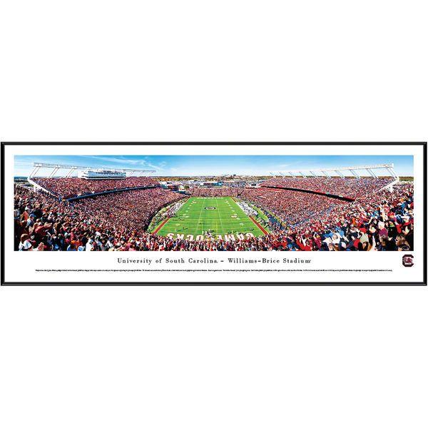 """South Carolina Gamecocks 13"""" x 40"""" Williams-Brice Stadium End Zone Standard Frame Panorama - $99.99"""
