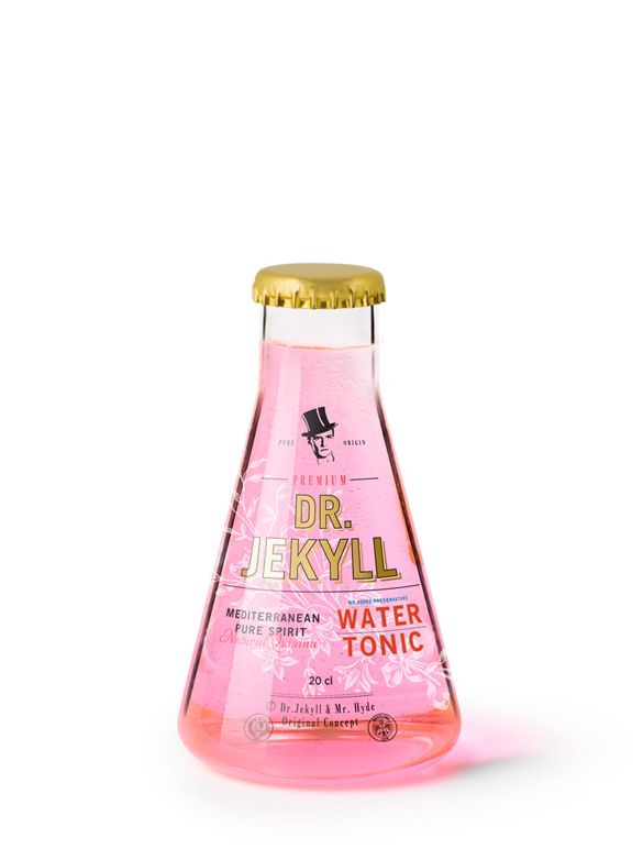 #water #bottle #design #packaging  Baller packaging.  Eduardo del Fraile, Dr Jekyll (water tonic)