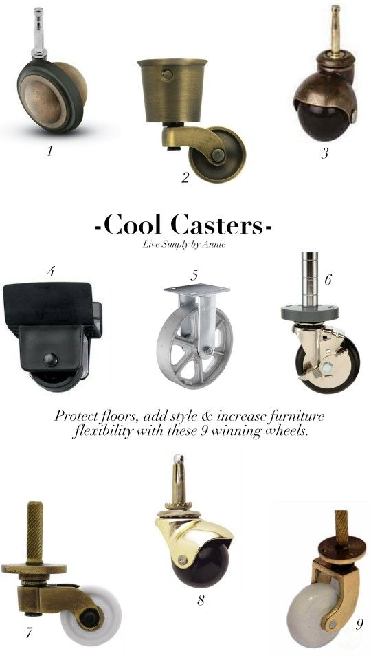 One Tip Tuesday Furniture Casters For The Home Pinterest Diy And Hardware