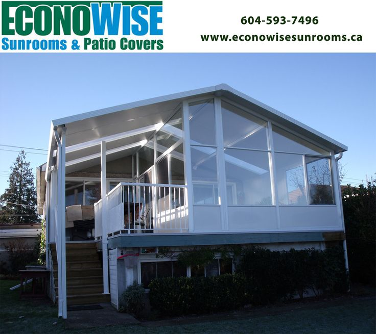 Add a sunroom enclosure and imagine your lifestyle change with the addition of an extra sitting area ,workout studio, dining space or game room!  Econowise Sunrooms and Patio Cover