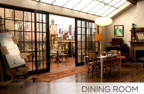 white collar set design - dining room