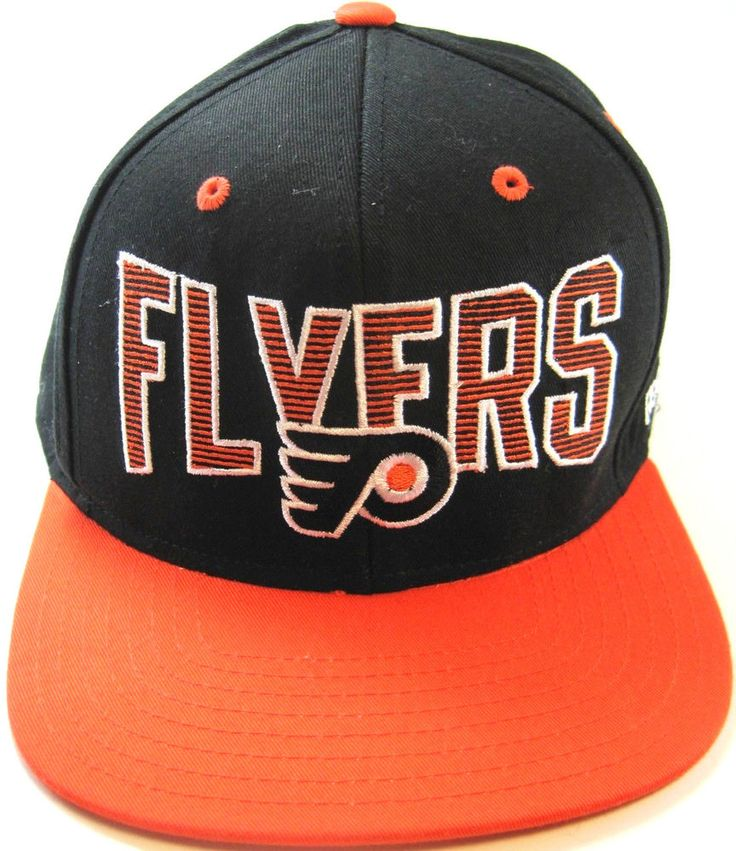 NHL Reebok Flyers Hockey Baseball Cap Orange Black.  MMM 21 #Reebok