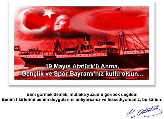 19 mayıs 1919, 19th May 1919, this date is important date for Turkey. This time many years ago Ataturk, who is the leader of Turkey, started national combat in Samsun/Turkey.