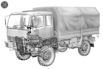 Konstruktionsbild Steyr 12M18