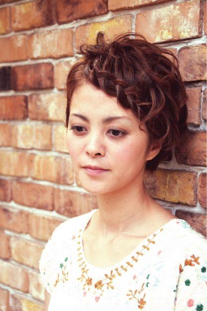ナチュラルショートの編み込みアレンジ♪   元町・石川町の美容室 hair coucouのヘアスタイル   Rasysa(らしさ)