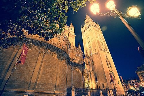 The Giralda, Bell Tower of the Cathedral of Seville, Spain