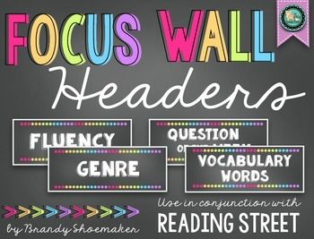 Focus Wall Headers (Reading Street): Chalk Brights