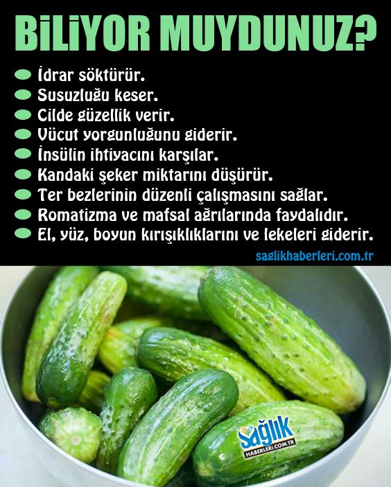 Salatalığın faydalarına çok şaşıracaksınız! Salatalığın dünyada en çok ekilen sebzeler arasında 4. Sırada yer aldığını biliyor muydunuz? Bağışıklık sistemini güçlendirmeden zayıflamaya, cilt güzelliğine olan etkilerinden baş ağrılarına kadar pek çok şeye iyi gelen salatalığın mucize faydaları saymakla bitmiyor. #salatalık #beslenme #sağlıkhaberleri
