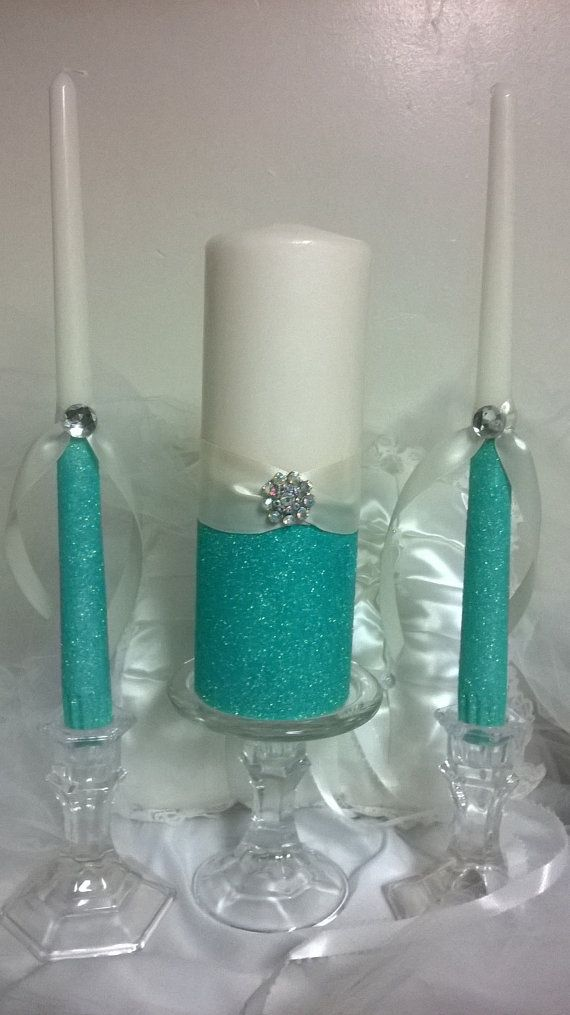 Unity candles blue unity candles Glitter by TheSparkleBooth