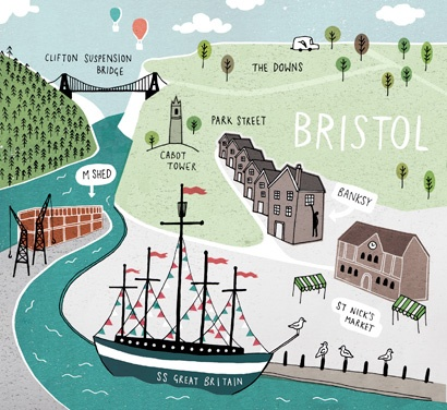 Bristol map - Jamie magazine