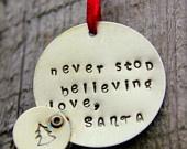 Christmas Decor Kids Children Ornament, Personalized Ornament Holidays Gift Kids, Holidays, Christmas, Letter From Santa, Holiday Home Decor
