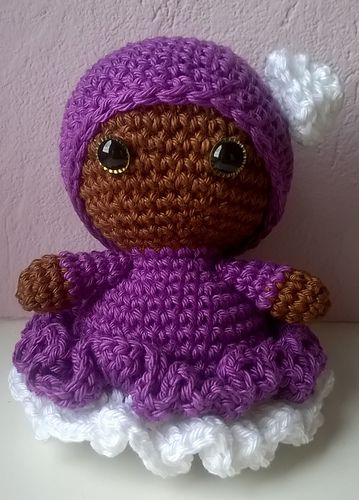 Ravelry: Crochetfreak73's Doll in purple